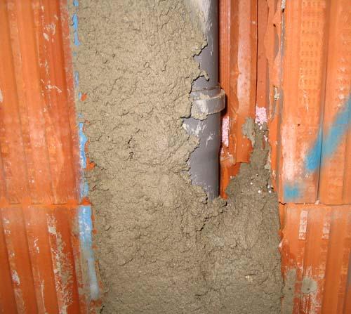 verschliessen der mauerschlitze